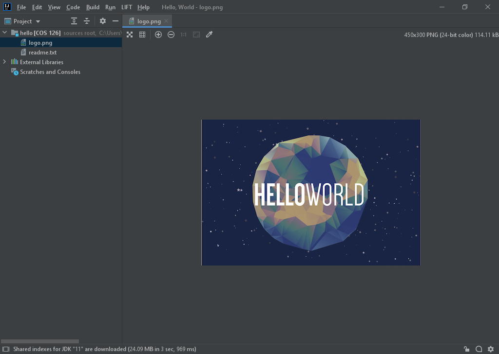 Hello World in Java (Windows)